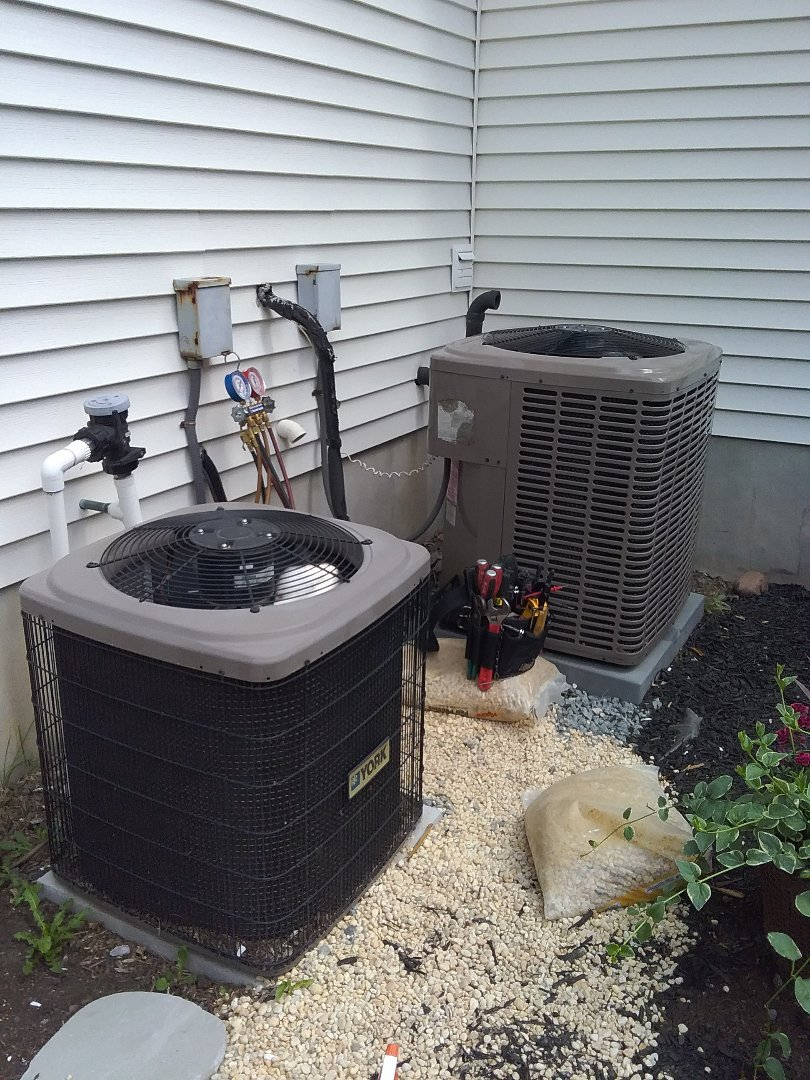 Scotch Plains, NJ - 2 york systems, air conditioning maintenance.