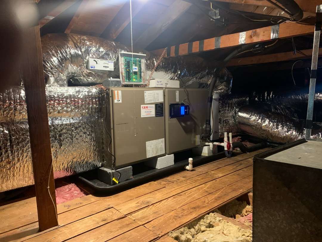 Mountainside, NJ - Install air handler uv light zone system