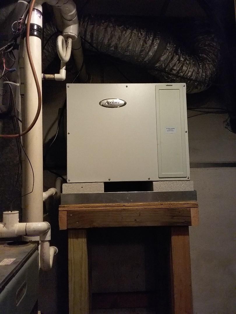 Cranford, NJ - Aprilaire dehumidifier maintenance.