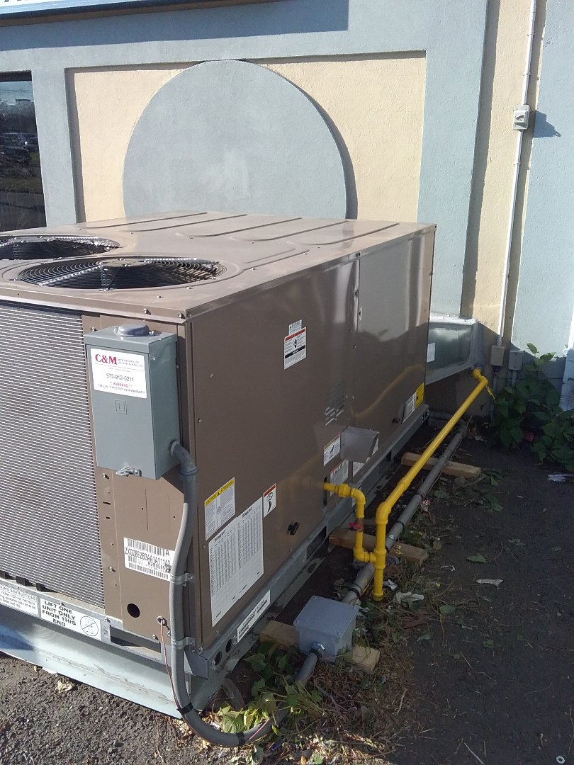 York rooftop package unit installation