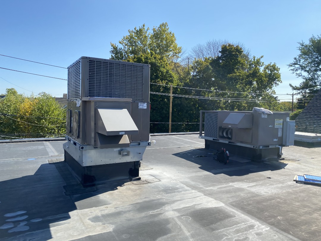 Coleman and York rooftop package unit maintenances.