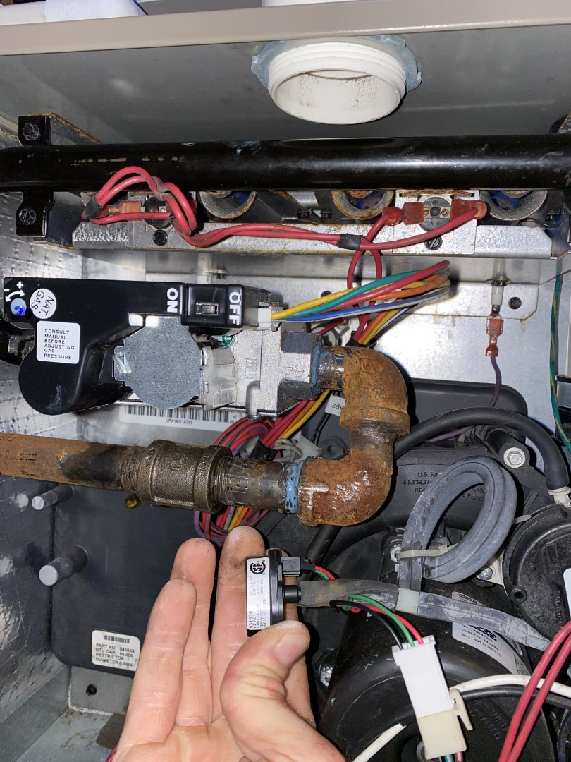 Coleman furnace gas valve and pressure sensor replacement.