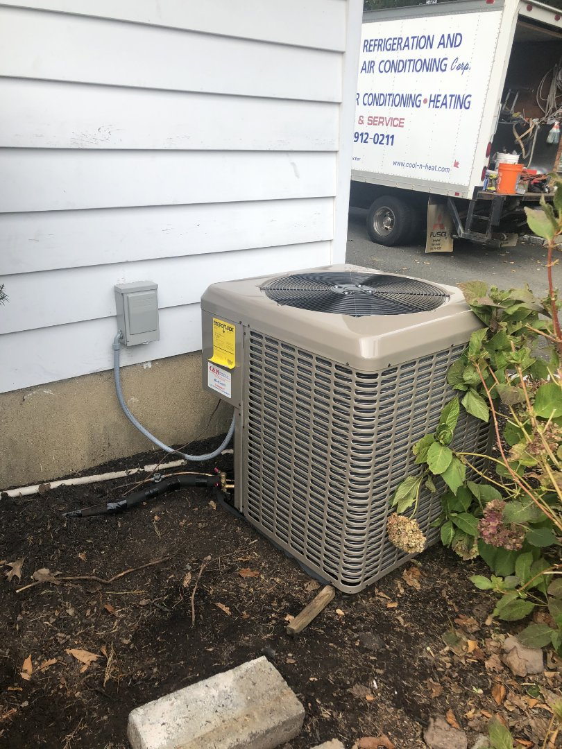 Mountainside, NJ - New furnace condenser install
