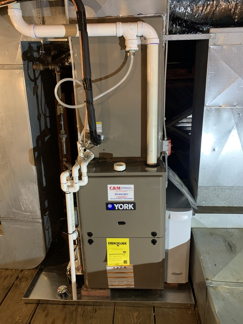 York new furnace install coil