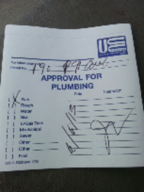 Paterson, NJ - passed plumbing inspection for new bathroom.