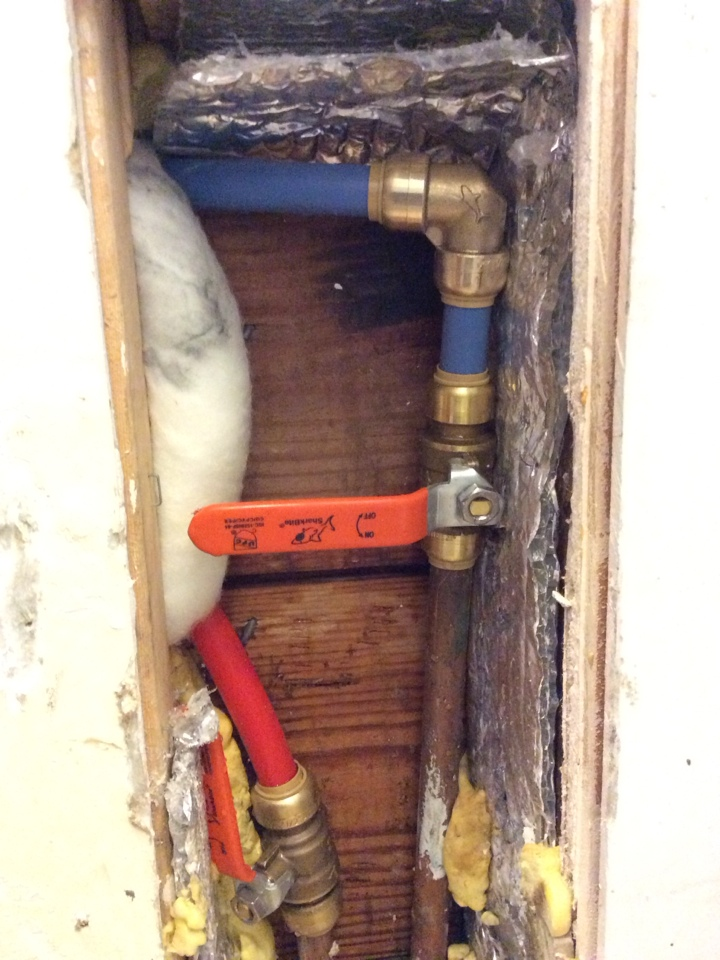 Highlands, NJ - Repaired frozen pipes to outside shower.
