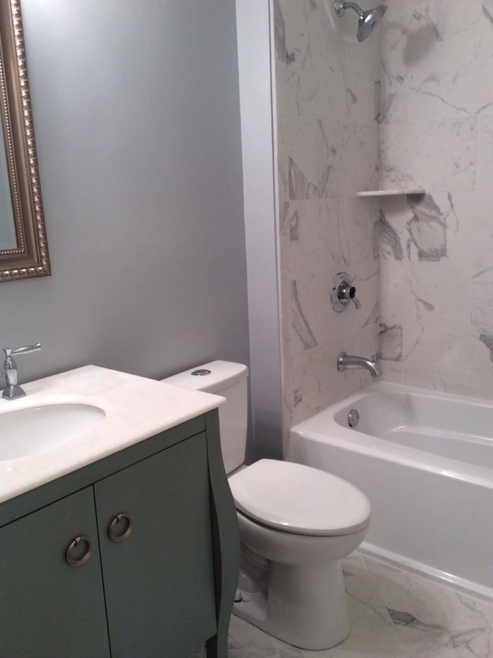 Hazlet, NJ - Installed faucet, toilet, and shower trim.