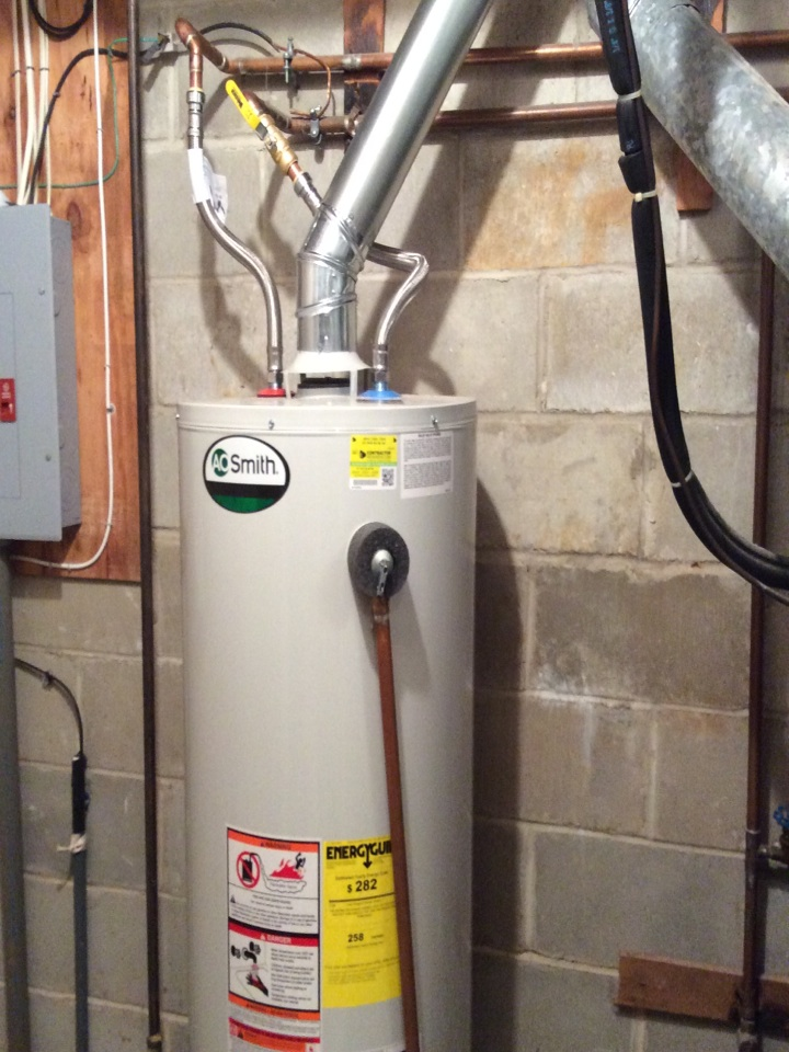 Red Bank, NJ - Replaced and installed new AO Smith water heater.