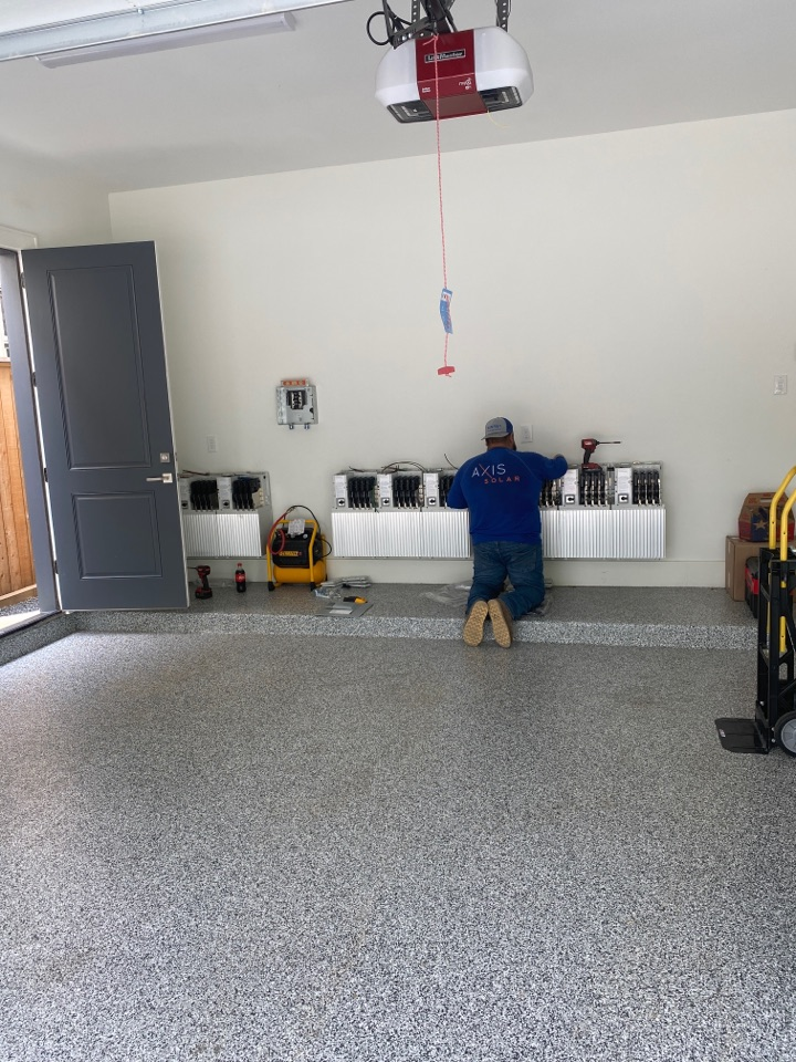 Houston, TX - Installing Enphase back up batteries on this custom home. Houston's first grid agnostic home!