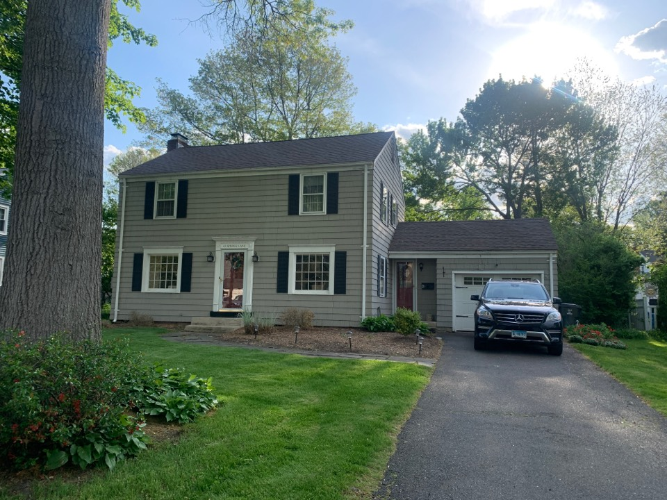 West Hartford, CT - Roof installed wiyh GAF timberline HDZ asphalt roof replacement by the best GAF contractor near you   Roof repair Roof estimate Siding done by your favorite guy near you snd #kaycan siding