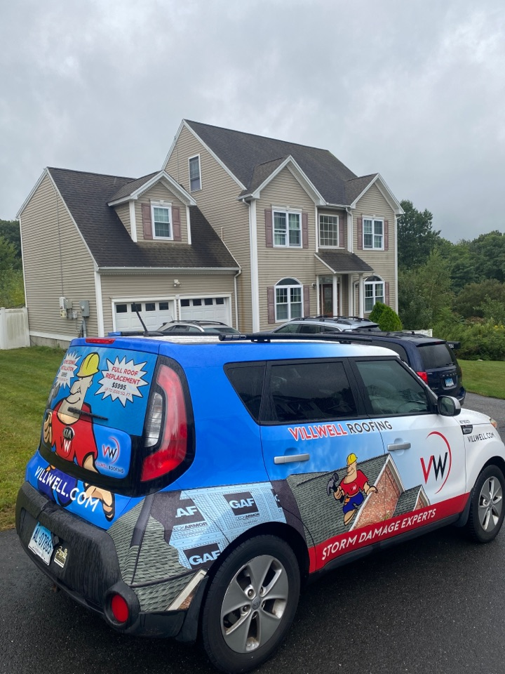 Waterbury, CT - Roof inspection for a GAF timberline HDZ asphalt roof replacement by the best GAF contractor near you