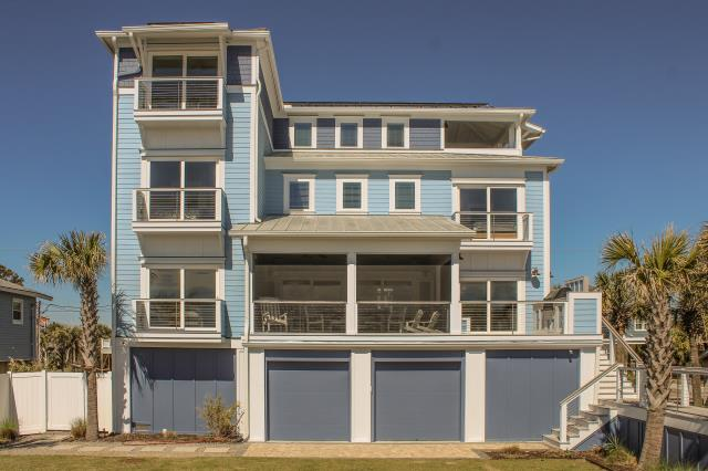 Folly Beach, SC - Our exterior ceramic coating was applied to the walls and trim of this Folly Beach, oceanfront home.
