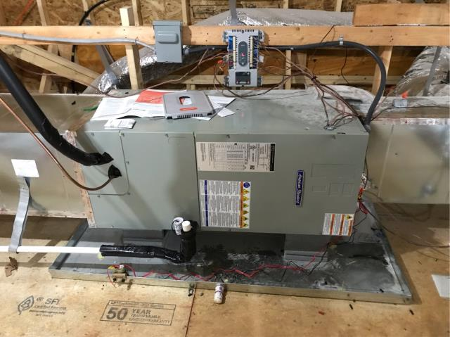 , SC - Installed new American Standard heat pump system for commerical customer in the Fort mill neighborhood.