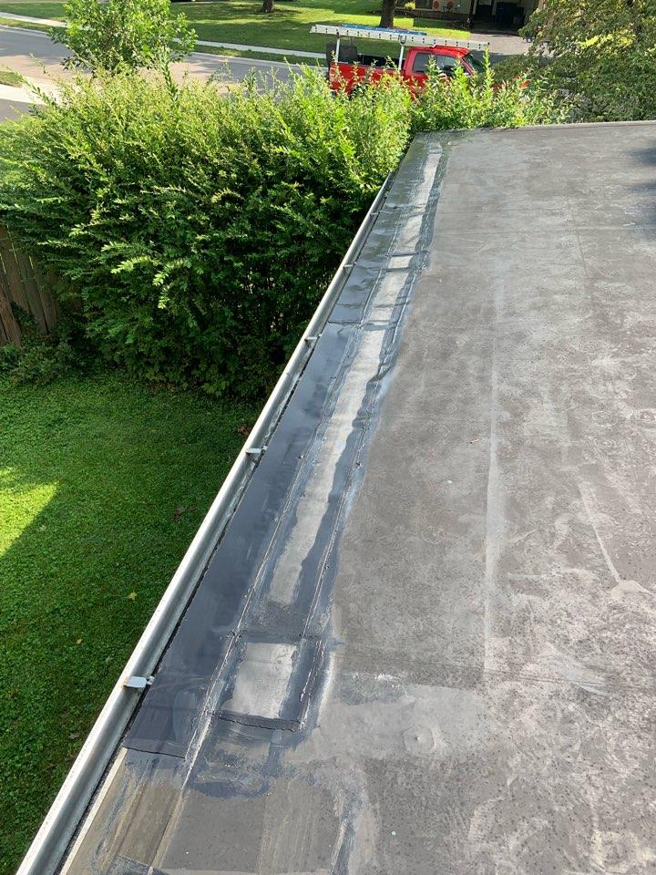 Columbus, OH - Residential EPDM rubber roof repair.