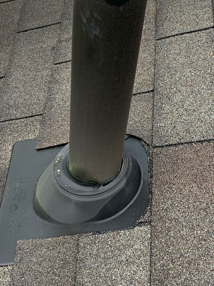 Columbus, OH - Common issue with older roofs, the rubber gasket gets old and cracks open.