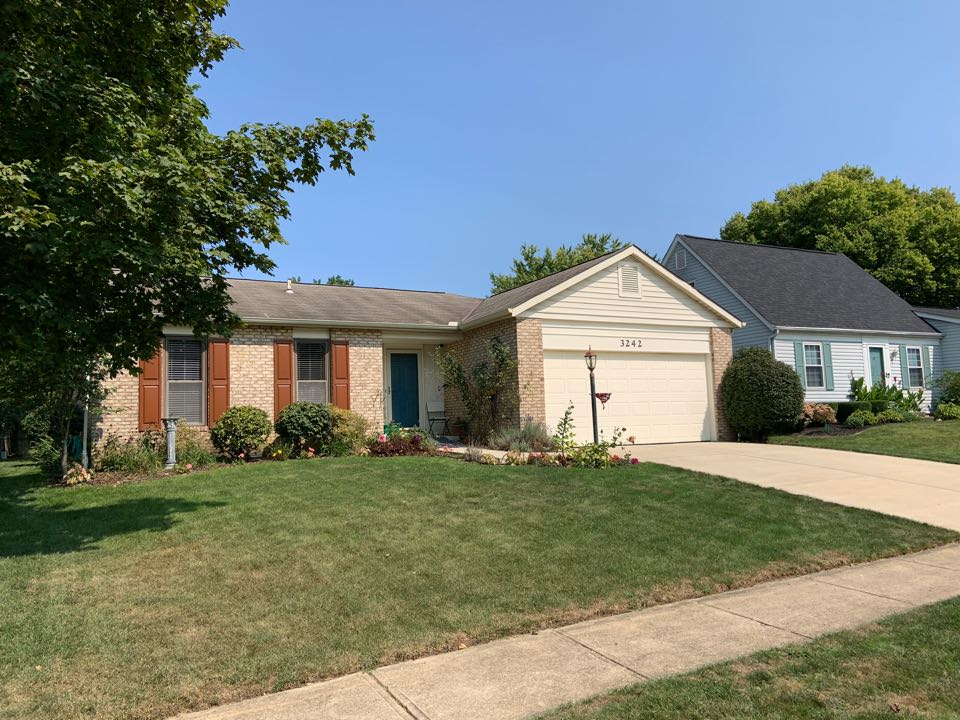 Dublin, OH - Estimate for new residential shingle roof and new continuous aluminum gutters and downspouts.