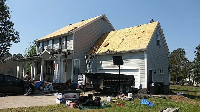 Raleigh, NC - We are replacing the roof in this house in Raleigh, NC