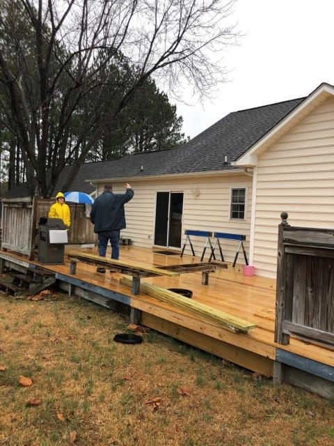 Sanford, NC - We are working on this patio deck in Sanford, NC