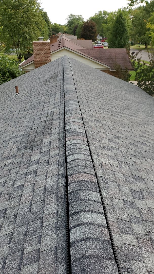 Centerville, OH - Certainteed ridge cap installation in Centerville, Ohio.