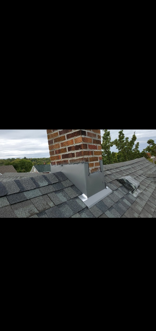 Miamisburg, OH - Chimney flashing replacement and CertainTeed shingle installation in Miamisburg, Ohio.