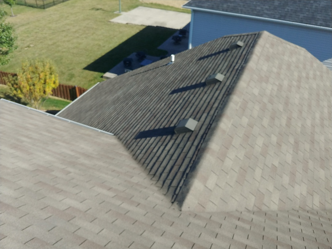 Englewood, OH - Free roof inspection on a storm-damaged roof for an insurance claim in Englewood, Ohio.