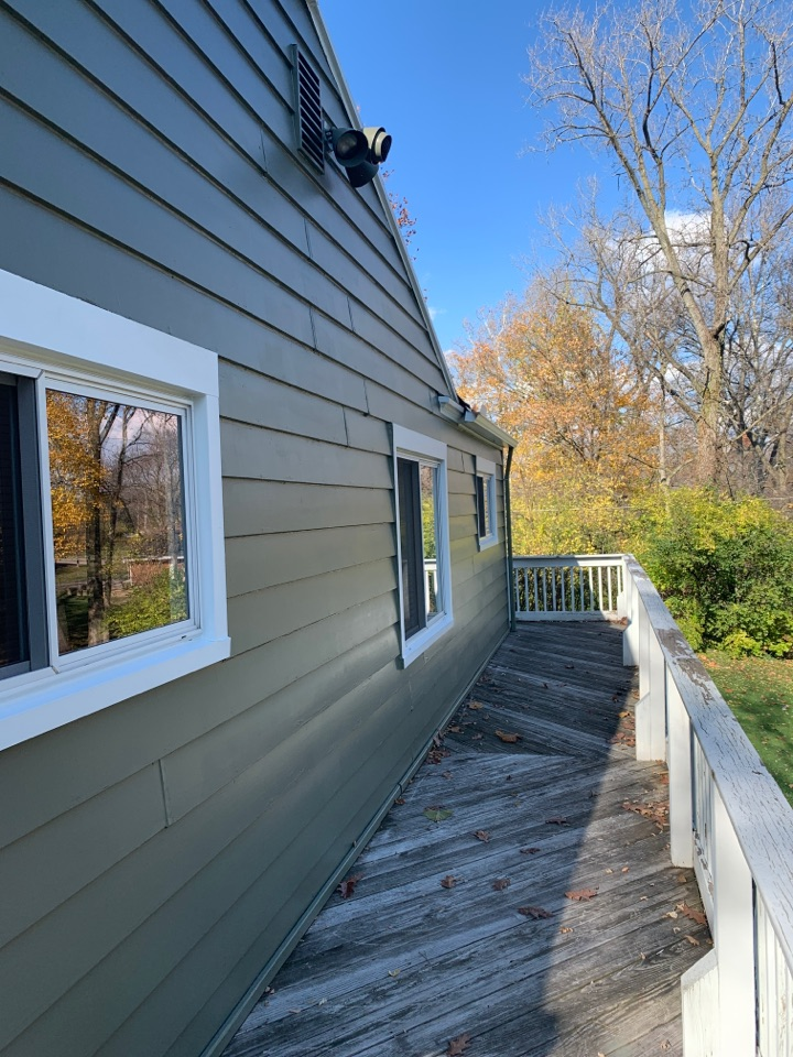 Centerville, OH - Cedar siding repair and roof to wall flashing free estimate in Centerville, Ohio.