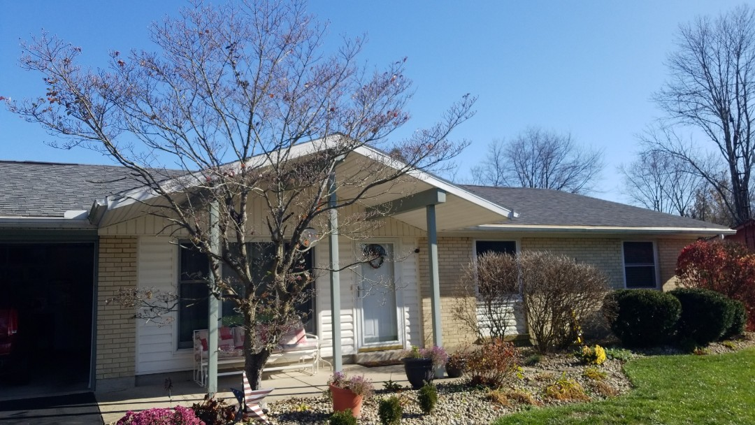Bellbrook, OH - Storm damaged shingle roof repairs in Bellbrook, Ohio.