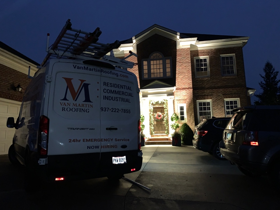 Centerville, OH - 24-hour emergency service to re-attach a downspout in Centerville, Ohio.