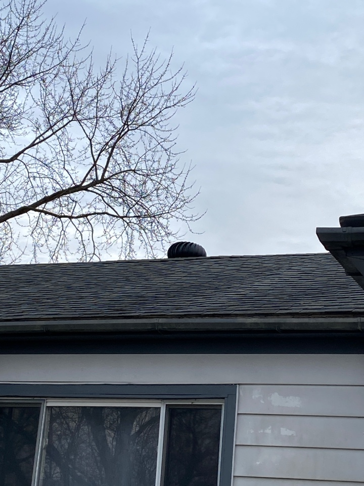 Miamisburg, OH - Chimney chase replacement and whirlybird air vent installation in Miamisburg, Ohio.