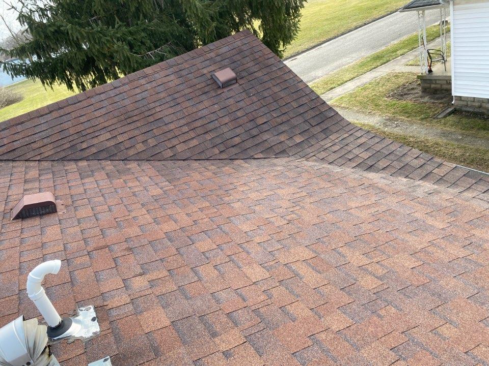 Xenia, OH - Shingle roof valley repair in Xenia, Ohio.