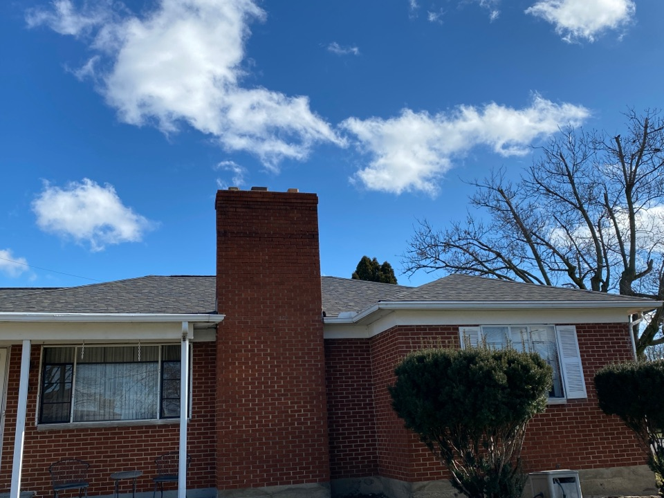Vandalia, OH - Final inspection on a CertainTeed shingle roof replacement in Vandalia, Ohio.