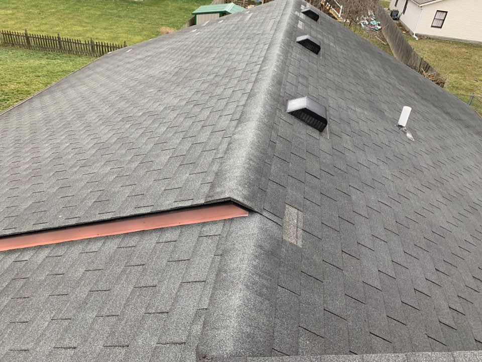 Middletown, OH - Shingle roof inspection for storm damage in Middletown, Ohio.