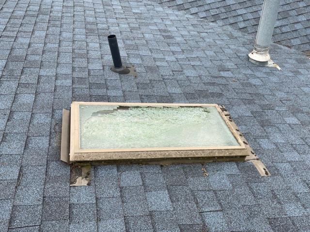 Fairborn, OH - Removed old skylight and installed new Velux skylight in Fairborn, Ohio.
