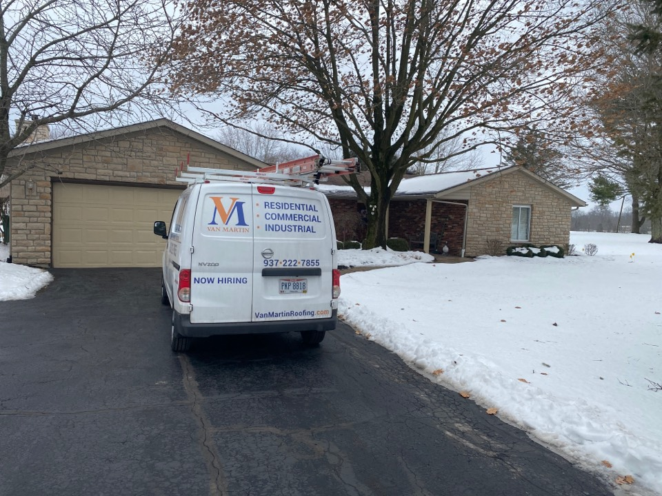 Bellbrook, OH - Meeting with a customer to provide an estimate for a roof replacement in Bellbrook, Ohio.