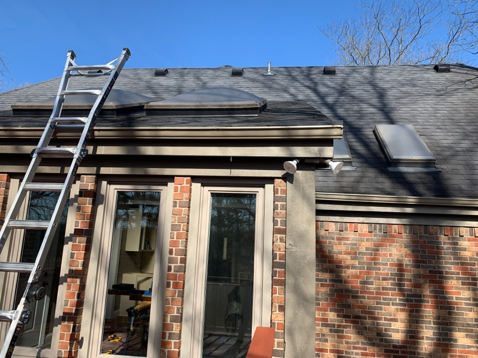 Bellbrook, OH - Skylight replacement with Velux skylights in Bellbrook, Ohio.