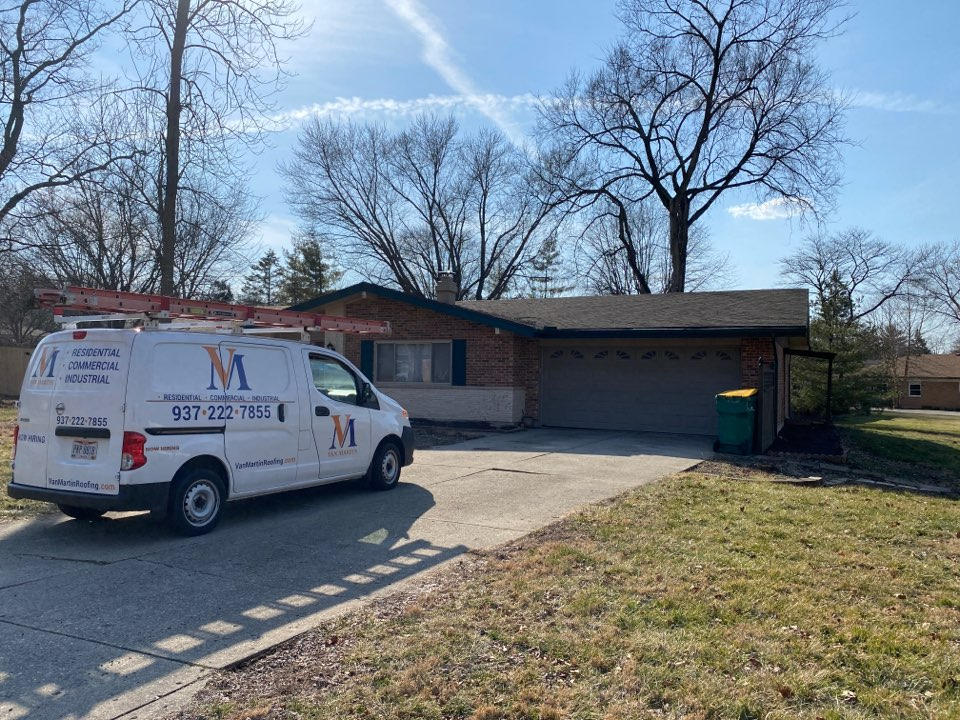 Beavercreek, OH - Meeting with a customer to provide an estimate for a roof replacement in Beavercreek, Ohio.
