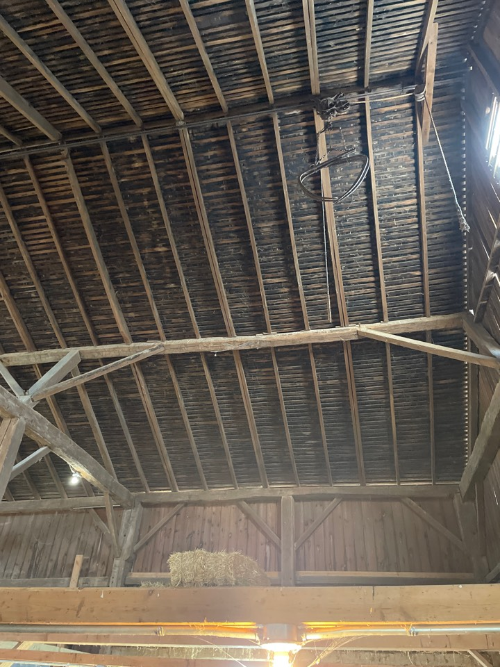 Troy, OH - Inspecting a metal roof for repair or replacement in Troy, Ohio.