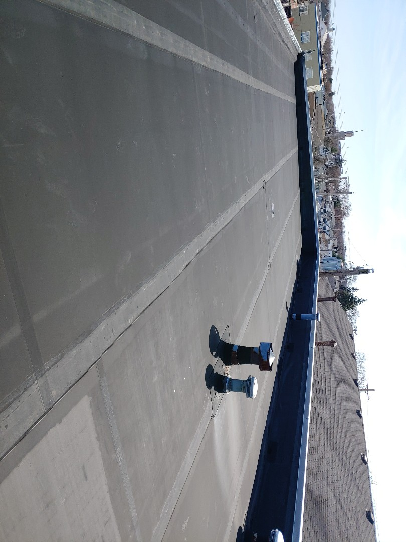 Fairborn, OH - Providing a commercial roof inspection and estimate for repair or replacement in Fairborn, Ohio.