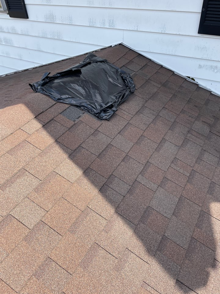 Troy, OH - Providing an insurance claim estimate for a roof replacement due to wind damage in Troy, Ohio.