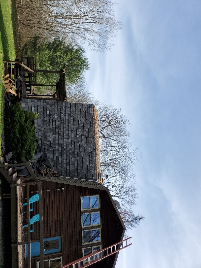 Yellow Springs, OH - Inspection on a shingle roof replacement in Yellow Springs, Ohio.