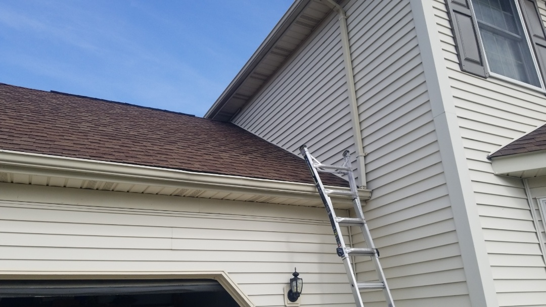Tipp City, OH - Storm damaged shingle roof repair in Tipp City, Ohio.