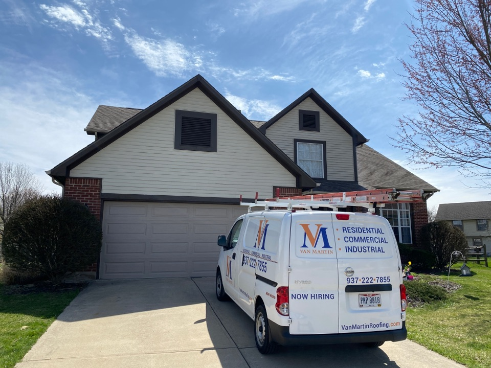 Miamisburg, OH - Meeting with a customer for a gutter replacement quote in Miamisburg, Ohio.