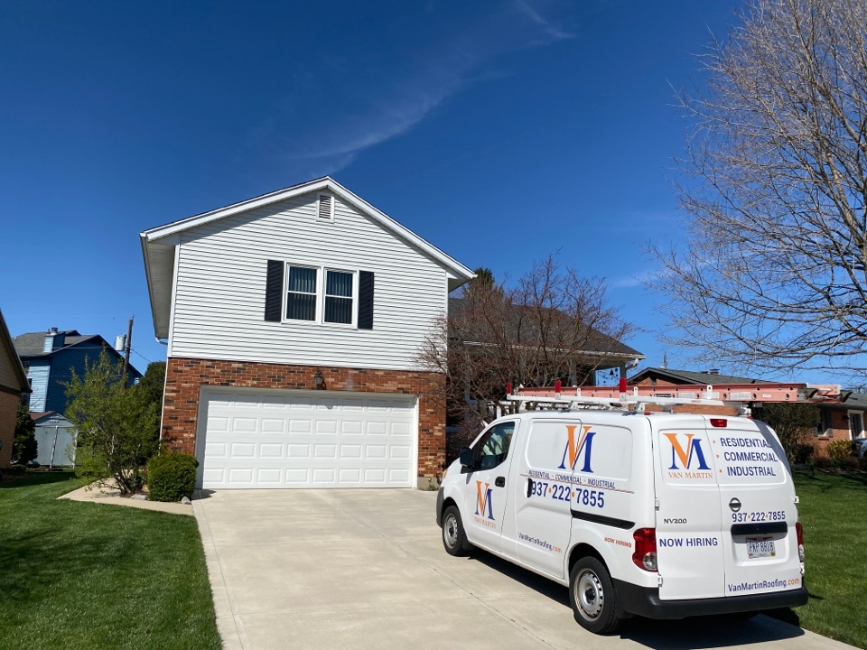 Middletown, OH - Meeting with a customer to provide an estimate for soffit repair in Middletown, Ohio.