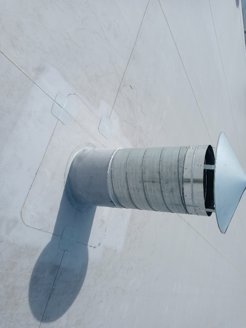 Miamisburg, OH - Pipe flashing on a commercial roof in Miamisburg, Ohio.