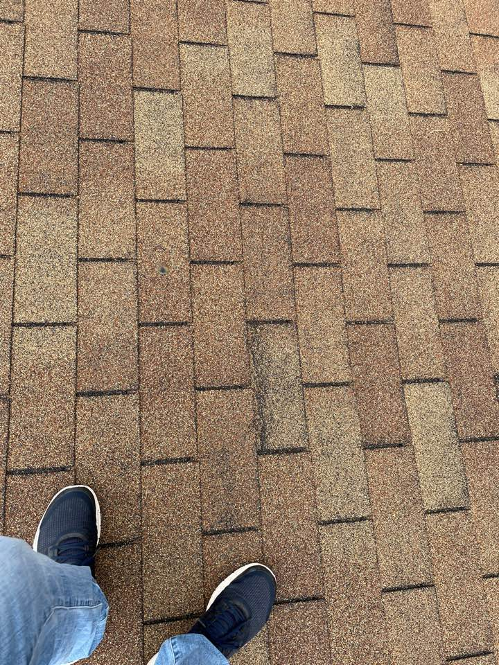 Fairborn, OH - Providing an estimate to replace a wind-damaged roof with CertainTeed shingles on a home in Fairborn, Ohio.