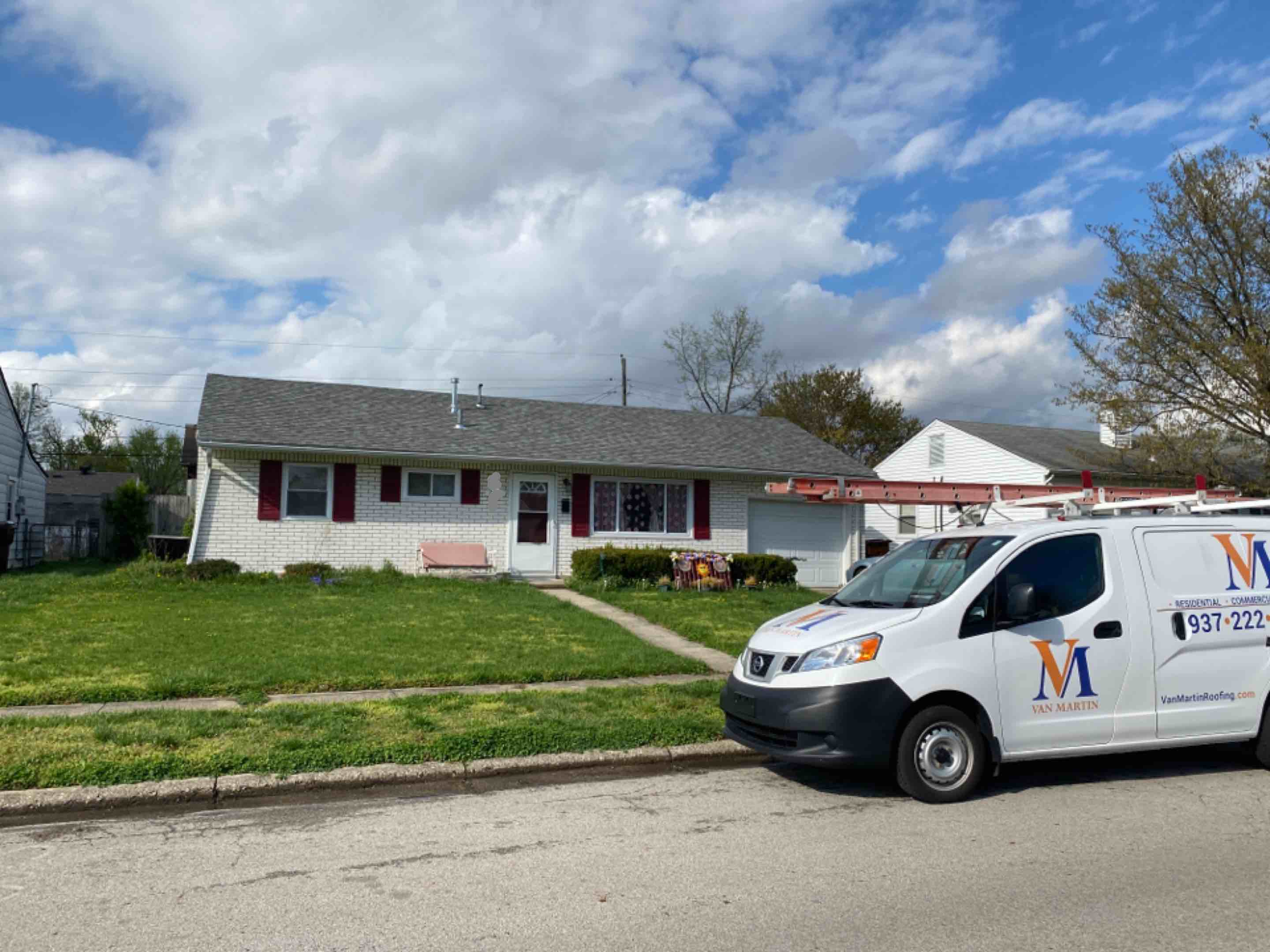 Fairborn, OH - Meeting with a customer to provide an estimate for gutter replacement in Fairborn, Ohio.