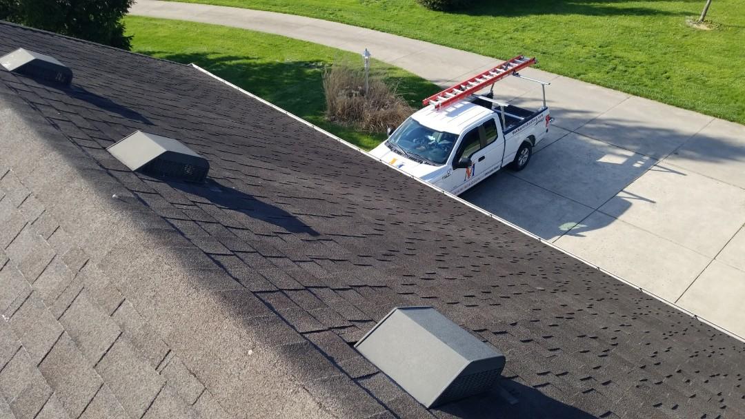 Springboro, OH - Certainteed Landmark shingle roof replacement in Springboro, Ohio.