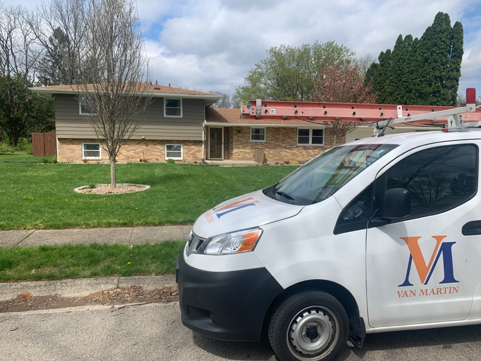 Yellow Springs, OH - Pre-purchase home roof inspection for a real estate transaction in Yellow Springs, Ohio.