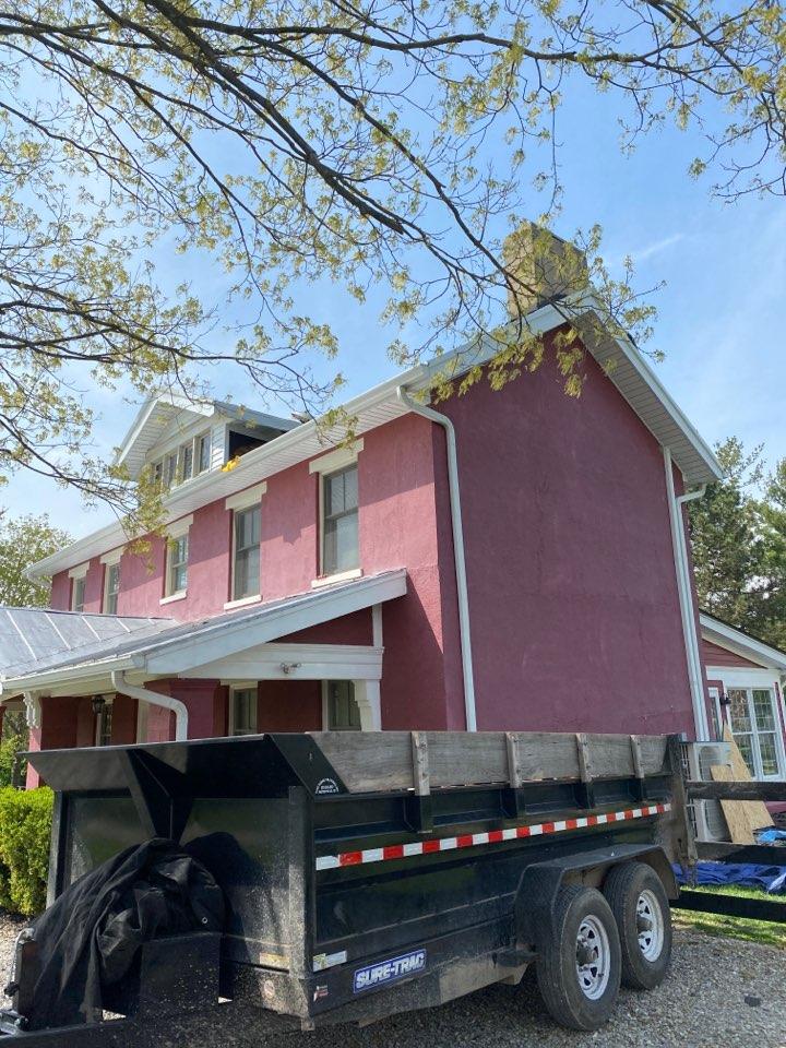 Lebanon, OH - Full roof replacement using CertainTeed Landmark shingles on a home in Lebanon, Ohio.