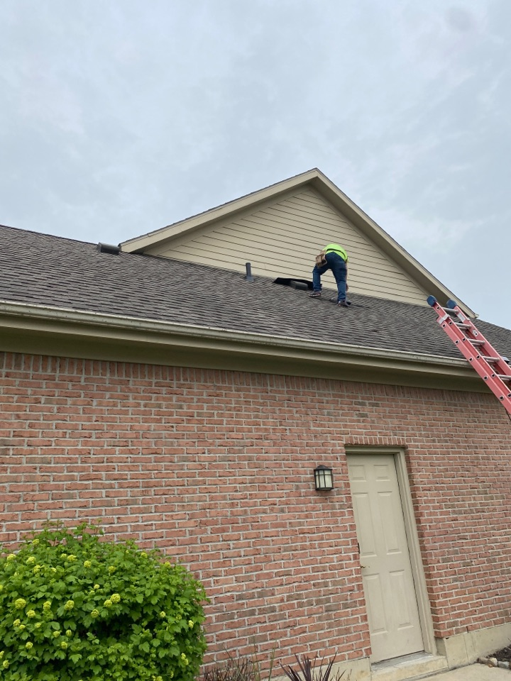 Troy, OH - Shutter replacement and shingle roof repair in Troy, Ohio.